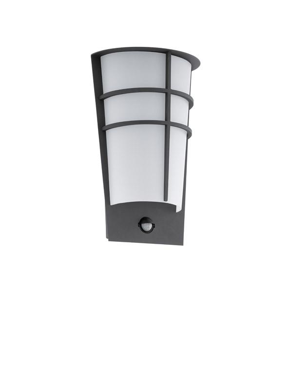 EGLO Уличный светодиодный светильник настенный BREGANZO 1 с датчиком движения и фун-ей день/ночь , 2х2,5 уличный настенный светодиодный светильник eglo breganzo 96269