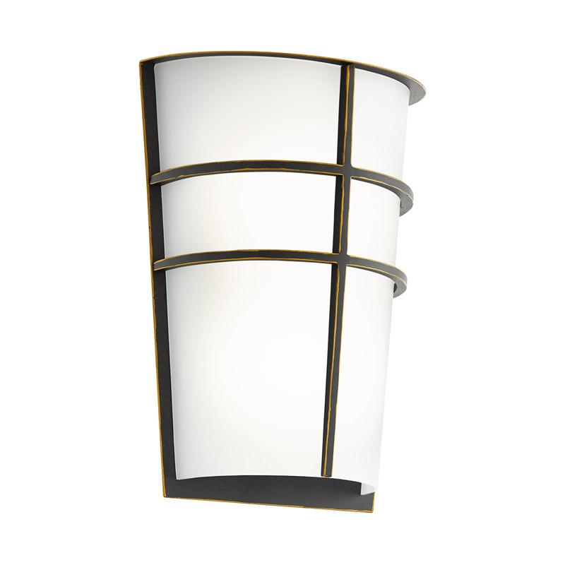 EGLO Уличный светодиодный светильник настенный BREGANZO, 2х2,5W (LED), H250, гальван. сталь, темно-корич уличный настенный светодиодный светильник eglo breganzo 96269