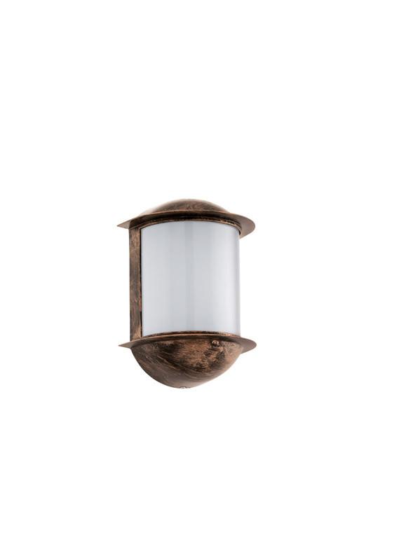 EGLO Уличный светодиодный светильник настенный ISOBA, 1х6W (LED), H220, литой алюминий, состарен. медный уличный настенный светодиодный светильник eglo isoba 96273