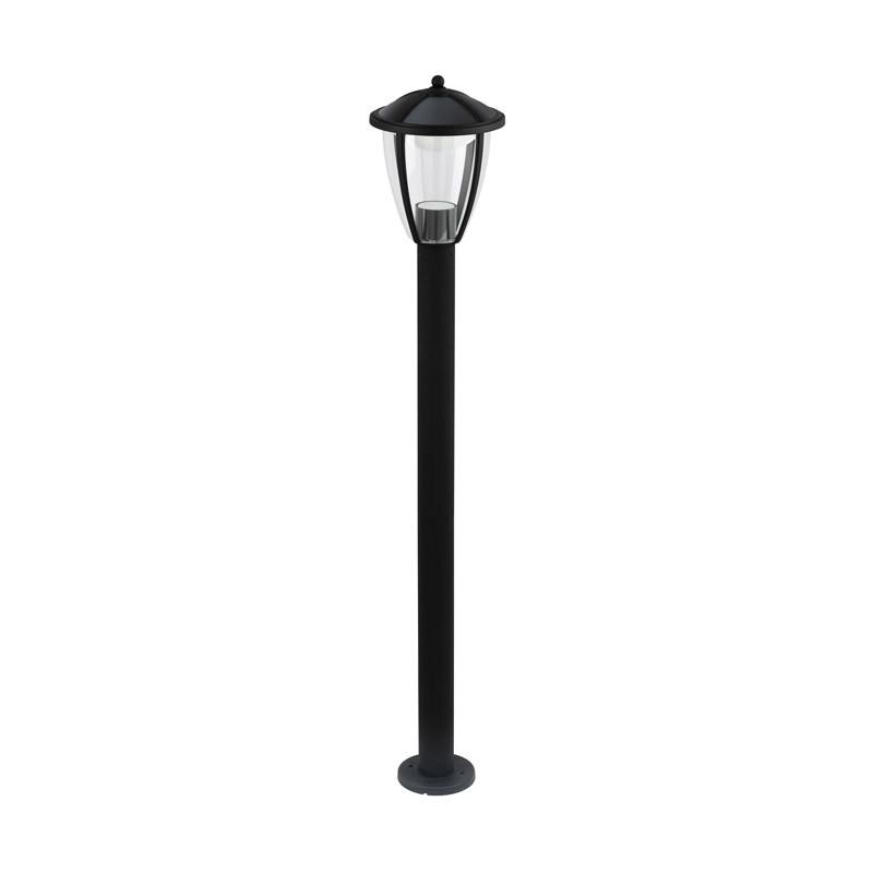 EGLO Уличный светодиодный фонарь COMUNERO, 1х6W (LED), H1000, лит. алюминий, черный, серебрян./пластик, п фонарь ручной эра 1 x 1 w led