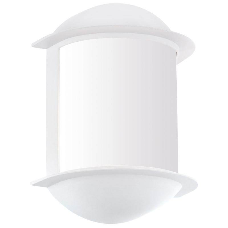 EGLO Уличный светодиодный светильник настенный ISOBA, 1х6W (LED), H220, алюминий, белый/пластик, белый уличный настенный светодиодный светильник eglo isoba 96273