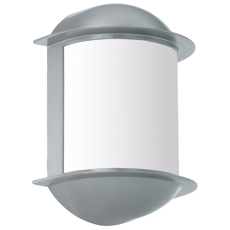 EGLO Уличный светодиодный светильник настенный ISOBA, 1х6W (LED), H220, алюминий, cеребряный/пластик, бе уличный настенный светодиодный светильник eglo isoba 96273