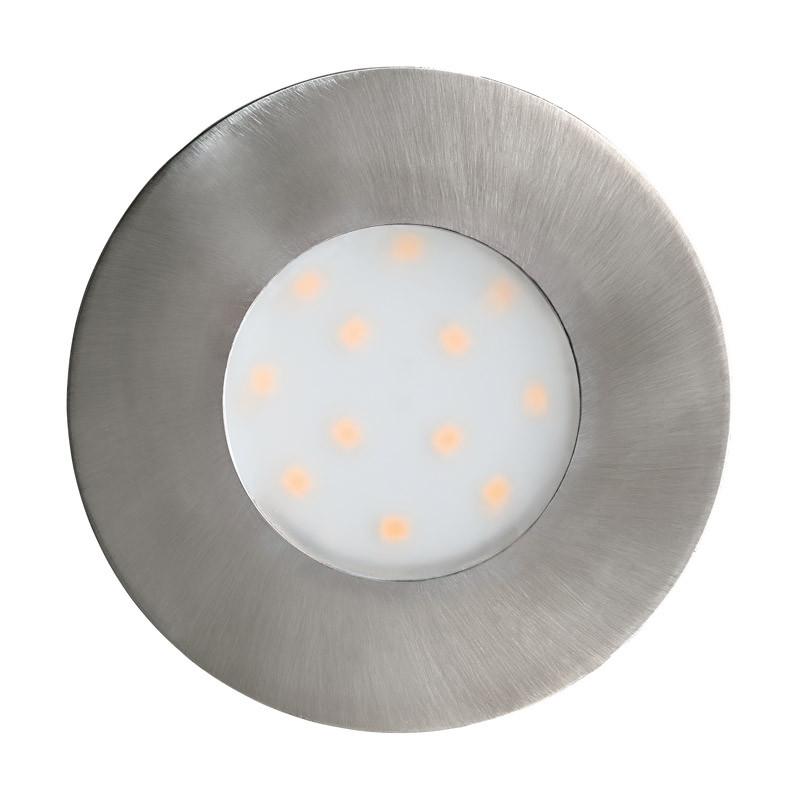 EGLO Уличный светодиодный светильник встраиваемый PINEDA-IP, 1х6W (LED),  ?78, пластик, никель матовый