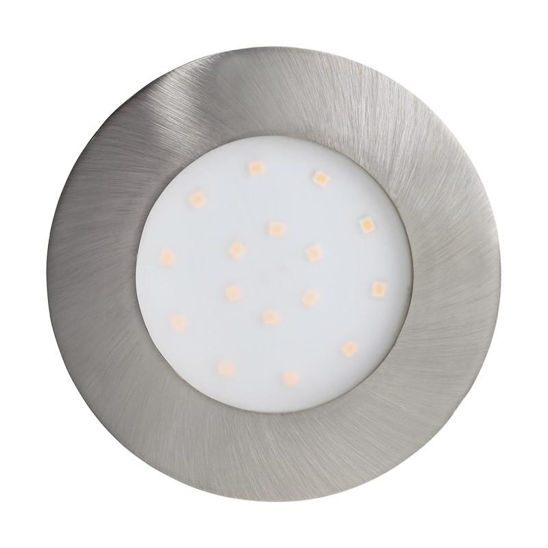 EGLO Уличный светодиодный светильник встраиваемый PINEDA-IP, 1х12W (LED), ?102, пластик, никель матовый