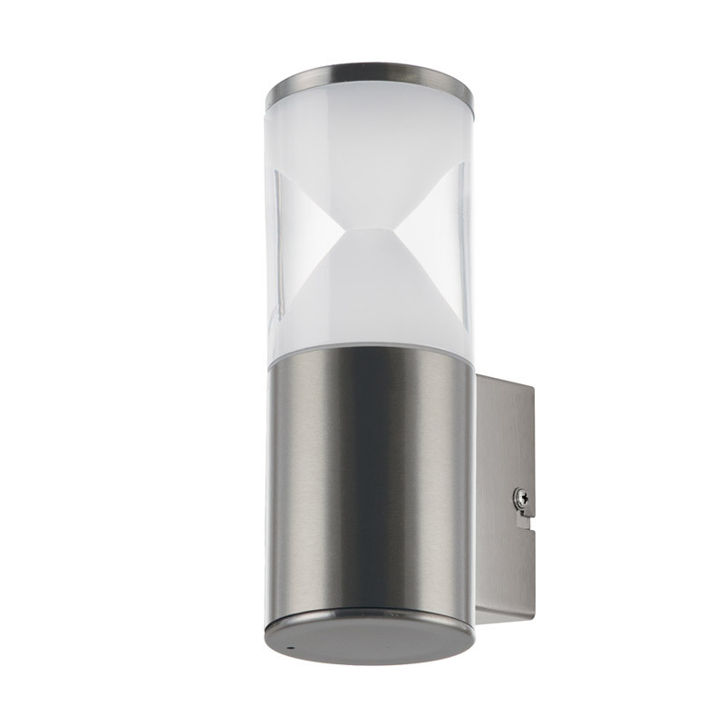 EGLO Уличный светодиодный настенный светильник HELVELLA, 1х3,7W(LED), IP44, L75, H210, A105, нержавеющая светильник на штанге eglo helvella 96419