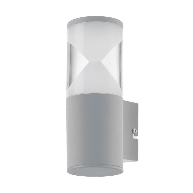EGLO Уличный светодиодный настенный светильник HELVELLA, 1х3,7W(LED), IP44, L75, H210, A105, сталь, сереб светильник на штанге eglo helvella 96419