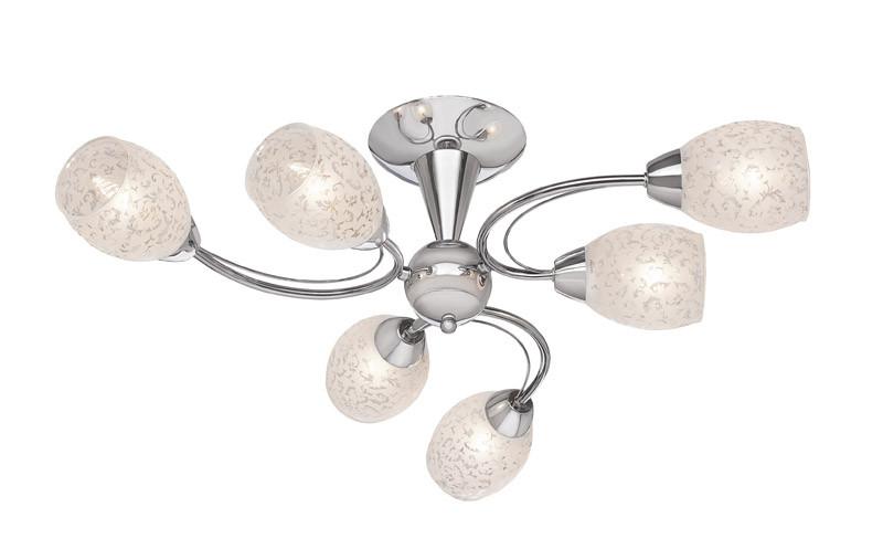 Silver Light Люстра потолочная Silver Light, серия Eseniya, цвет хром 6XЕ14X60W потолочная люстра silver light eseniya 127 54 8