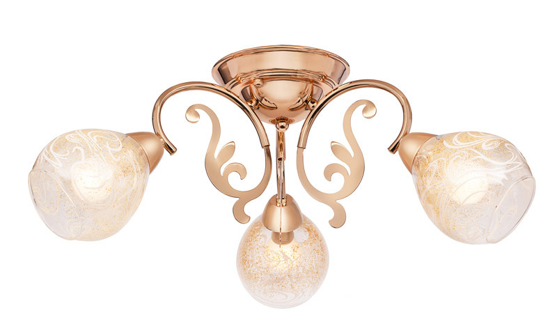 Silver Light Люстра подвесная Silver Light, серия Scroll, цвет золото 3XЕ14X60W