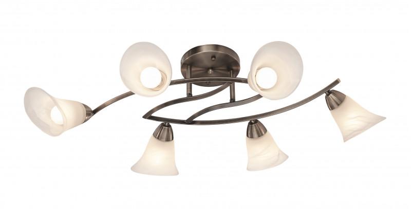 Silver Light Люстра потолочная Tvia, бронза, 6XЕ14X60W
