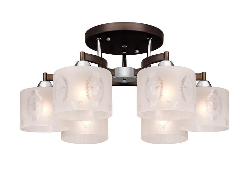 Silver Light Люстра потолочная Silver Light, cерия Camelot, цвет  венге + хром 6XЕ27X60W designing camelot