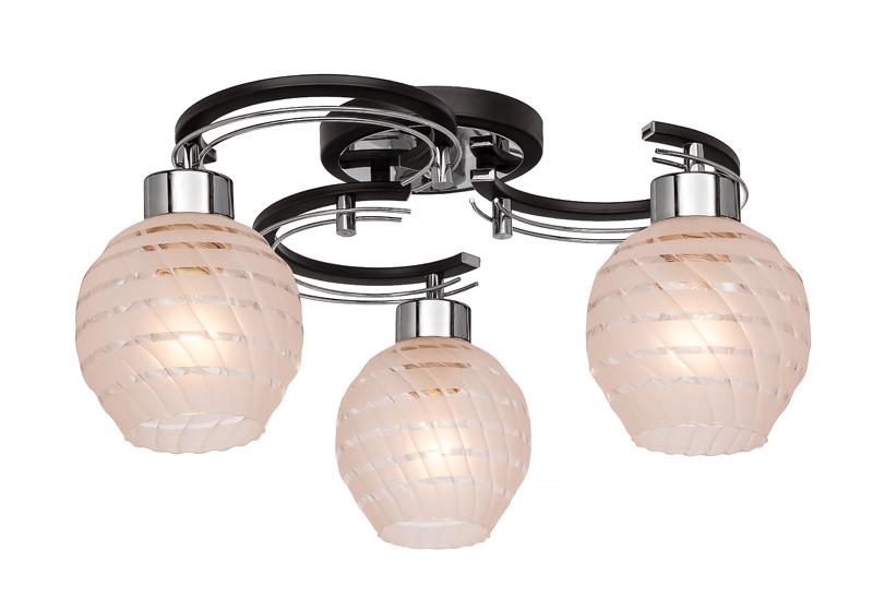 где купить Silver Light Люстра потолочная Silver Light, серия Viola, цвет венге/хром,3XЕ14X60W по лучшей цене