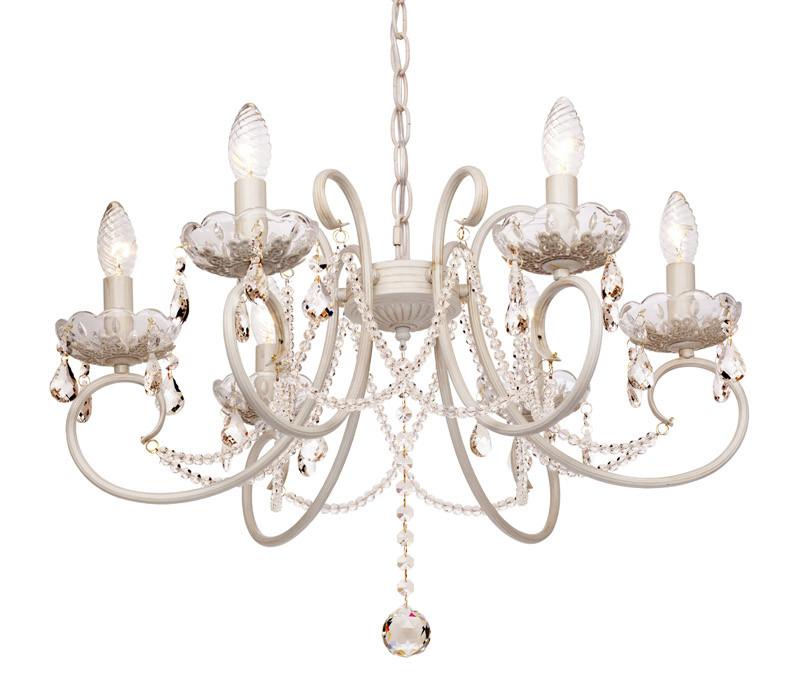 Silver Light Люстра подвесная Silver Light, cерия Laurita,белая патина 6XЕ14X60W люстра потолочная silver light laurita 260 51 6