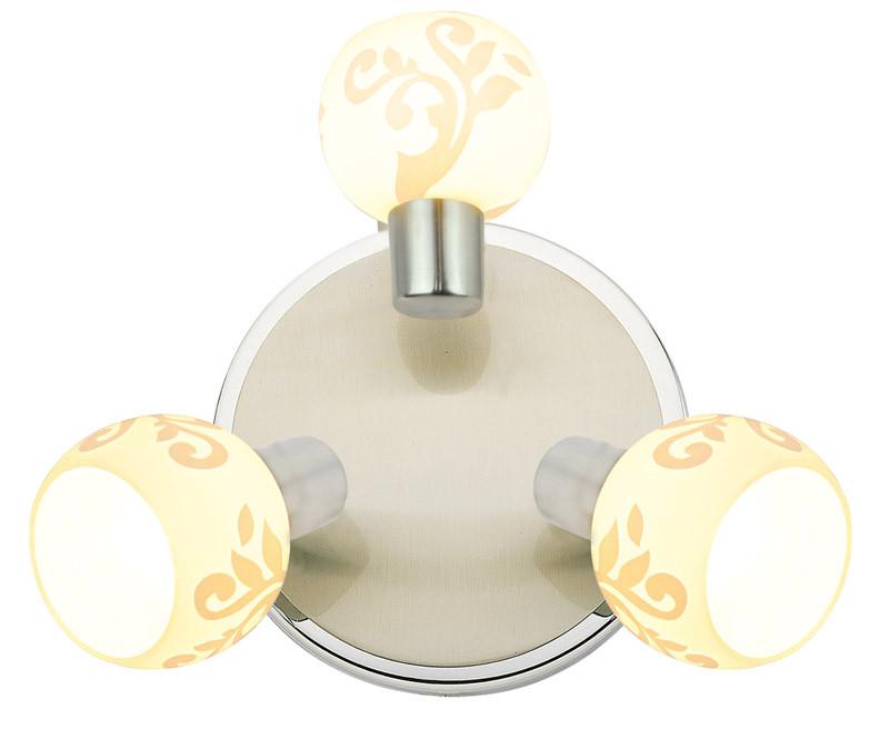 Silver Light Спот Flora Silver Light, матовый хром/хром, 3XЕ14X40W