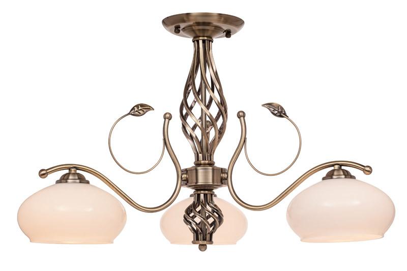 Фото Silver Light Люстра потолочная Silver Light, cерия Oswald, цвет бронза 3XЕ27X60W. Купить с доставкой