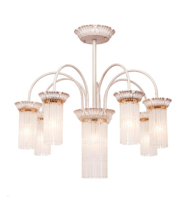 Фото Silver Light Люстра подвесная Silver Light, cерия Venezia, цвет белая патина + золото 8XЕ14X60W. Купить с доставкой