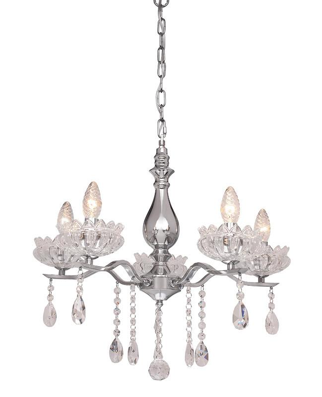 Фото Silver Light Люстра подвесная Silver Light, cерия Venere, хром 5XЕ14X60W. Купить с доставкой
