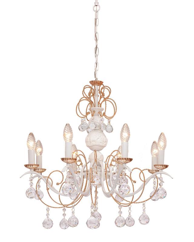 Silver Light Люстра подвесная Silver Light, cерия Imperatrice, белая патина 8XЕ14X60W l imperatrice douloureuse