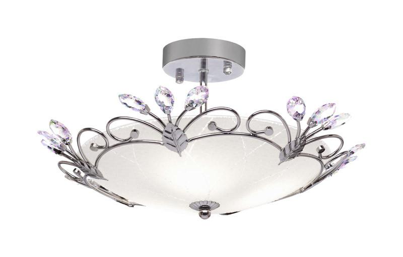 Фото Silver Light Светильник потолочный Silver Light, серия Lotos, диаметр 40 см., металл+стеклo, цвет хром 3XЕ27X75W. Купить с доставкой