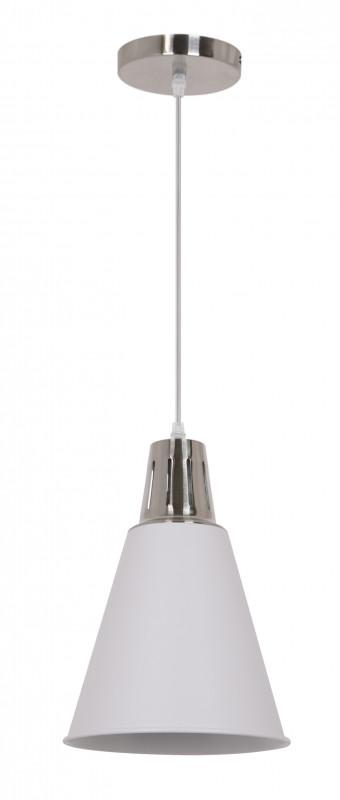 Odeon Light 3320/1 ODL17 096 белый/хром Подвес E27 60W 220V TIRA odeon light подвес odeon light marza 1 плафон хром белый с прозрачным 2738 1