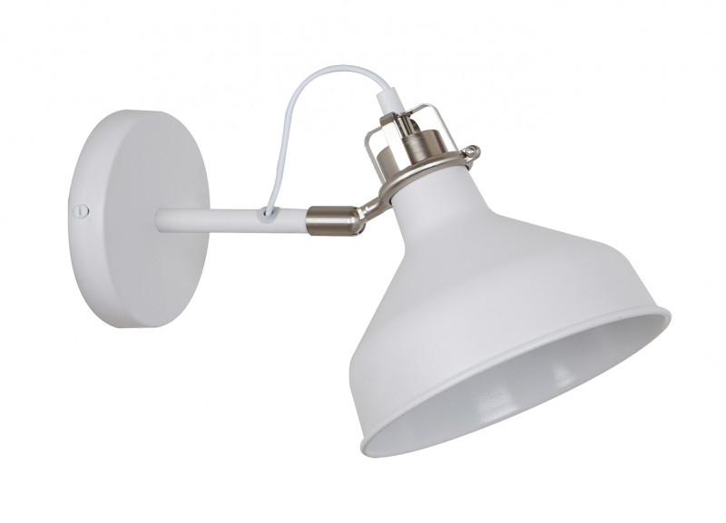 Odeon Light 3331/1W ODL17 118 белый/никель Бра с выключателем E27 40W 220V LURDI odeon light спот odeon light lurdi 3331 1w