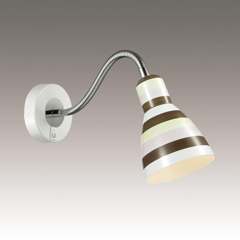 Odeon Light 3371/1W ODL17 835 цветная полоска, белый Бра с выключателем E27 40W 220V PIKA snapdragon 835 vpervye protestirovan v benchmarke