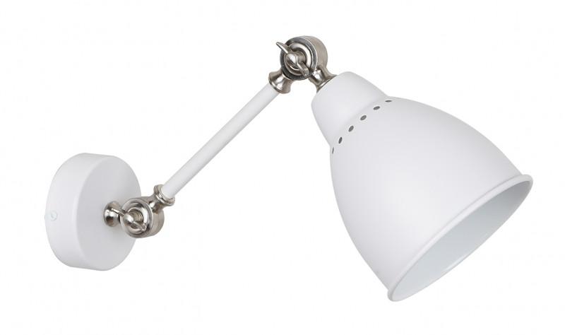 Odeon Light 3372/1W ODL17 832 белый/никель Бра E27 40W 220V CRUZ odeon light спот odeon light cruz 3372 1w