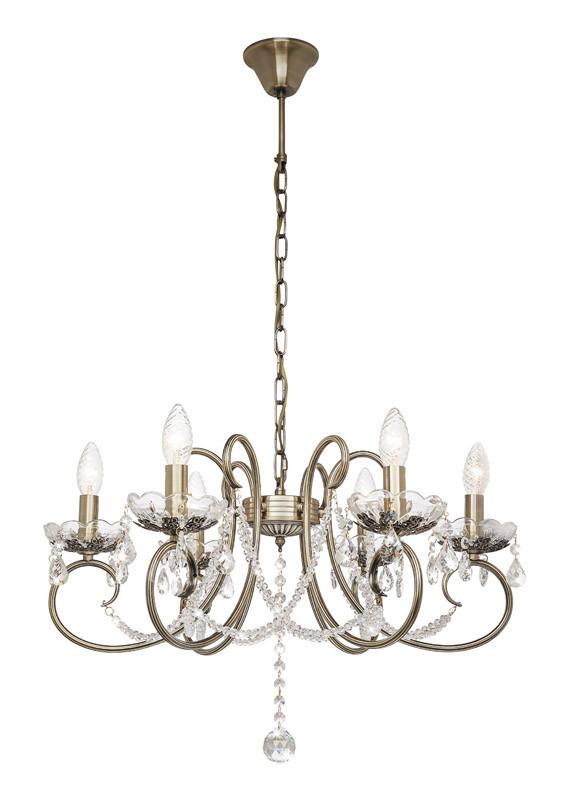Silver Light Люстра подвесная Silver Light, cерия Laurita, цвет бронза 6XЕ14X60W люстра потолочная silver light laurita 260 51 6