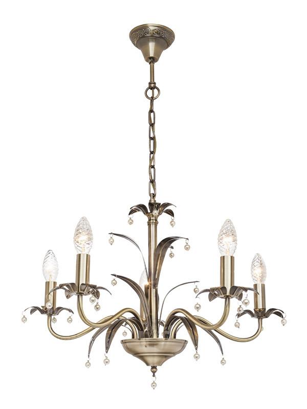 Фото Silver Light Люстра подвесная Silver Light, cерия Celesta, цвет бронза 6XЕ14X60W. Купить с доставкой