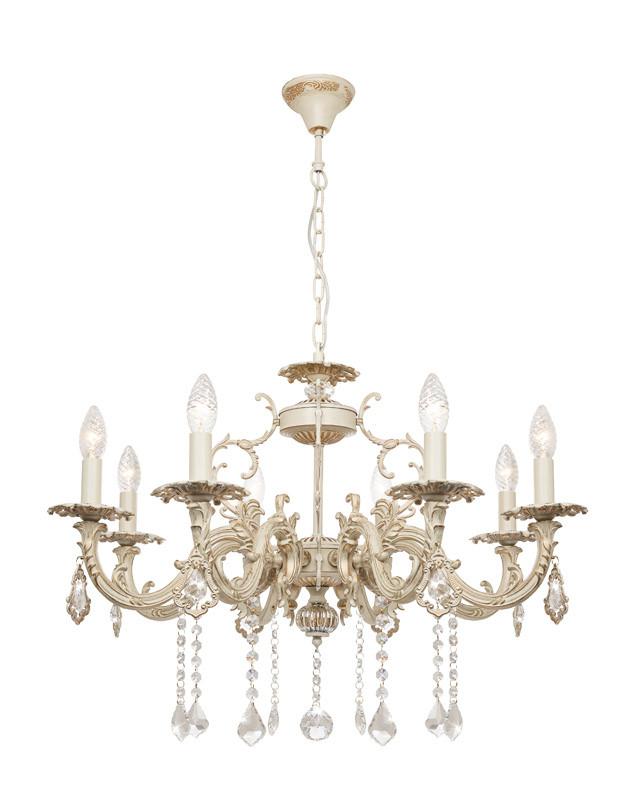 Фото Silver Light Люстра подвесная  Silver Light, cерия Marian, цвет золото 8XЕ14X60W. Купить с доставкой