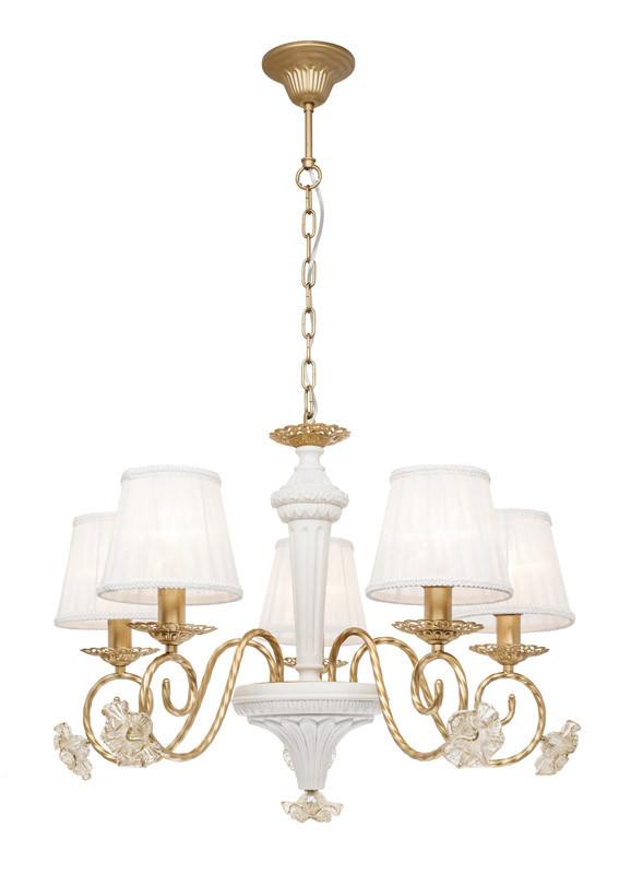 Silver Light Люстра подвесная Silver Light, cерия Benedict, белая + золото 5XЕ14X60W люстра подвесная silver light greta 511 53 5