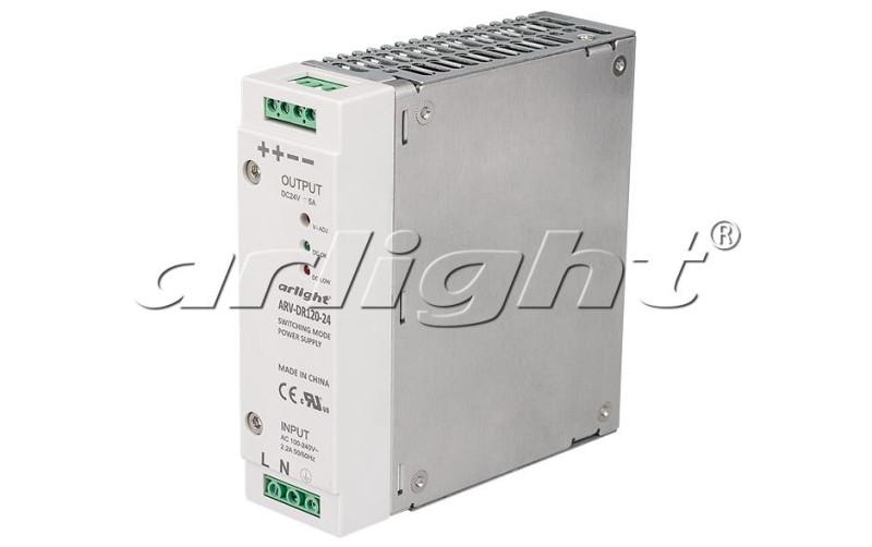 Arlight Блок питания ARV-DR120-24 (24V, 5A, 120W) блок питания 4parts lac hp03 hp 18 5v 6 5a 7 4x5 0mm 120w