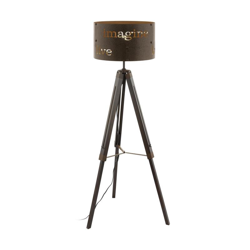 EGLO Торшер COLDINGHAM, 1x60W (E27), ?430, H1450, сталь, бурый eglo настольная лампа декоративная coldingham