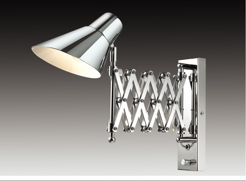 Odeon Light 2877/1W ODL16 109 хром/металл Бра раздвижн. с диммером E14 40W 220V LARK