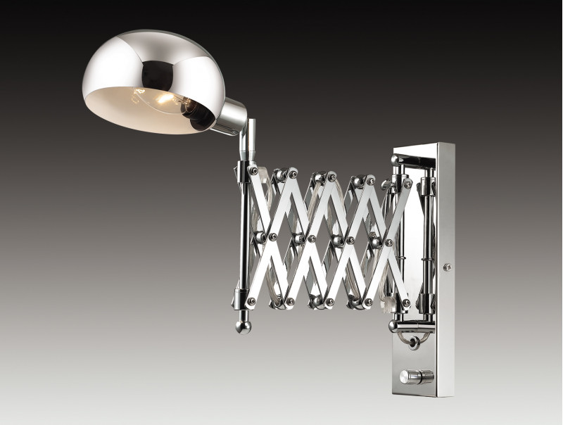 Odeon Light 2878/1W ODL16 109 хром/металл Бра раздвижн. с диммером E14 40W 220V LARK