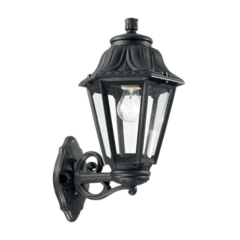 Фото Ideal Lux Настенный светильник ANNA AP1 BIG NERO. Купить с доставкой