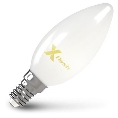 X-Flash Лампа LED X-flash XF-E14-FLM-C35-4W-4000K-230V (арт.48502) филаментная светодиодная лампа x flash xf e27 flm c35 4w 4000k 230v арт 48526