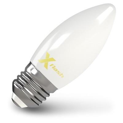 X-Flash Лампа LED X-flash XF-E27-FLM-С35-4W-4000K-230V (арт.48526) филаментная светодиодная лампа x flash xf e27 flm c35 4w 4000k 230v арт 48526