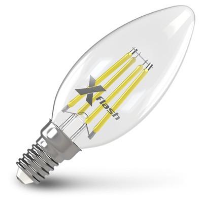 X-Flash Лампа LED X-flash XF-E14-FL-C35-4W-2700K-230V (арт.48632) x flash лампа led x flash xf e27 fl с35 4w 2700k 230v арт 48861