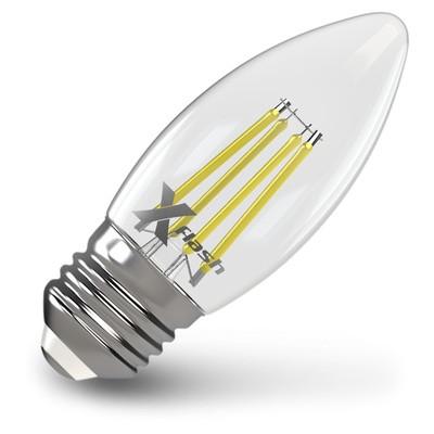 X-Flash Лампа LED X-flash XF-E27-FL-С35-4W-2700K-230V (арт.48861) x flash лампа led x flash xf e27 fl с35 4w 2700k 230v арт 48861