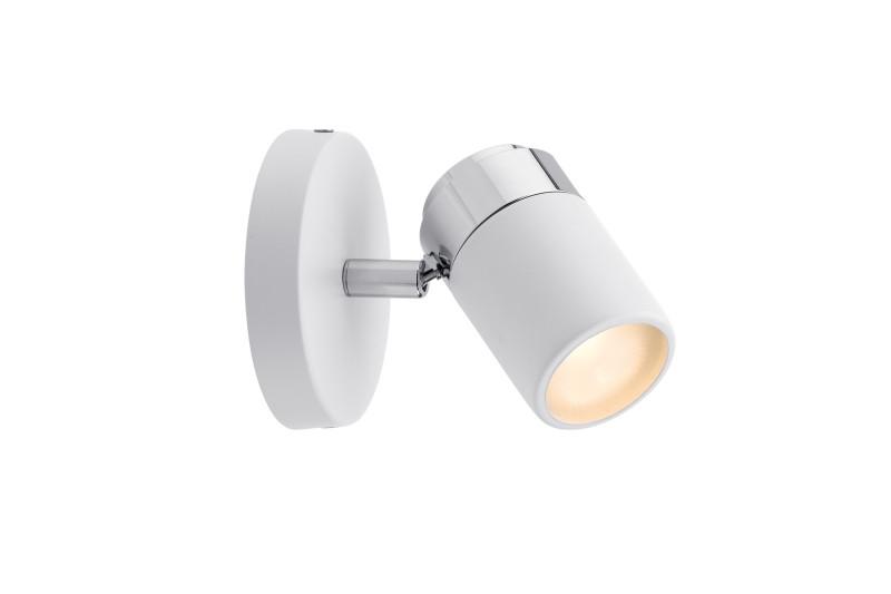 Paulmann Spotlight Zyli IP44 max1x10W GU10 Ws/Chr paulmann w d ixa ip44 max 18w e27 310mm ei geb ws