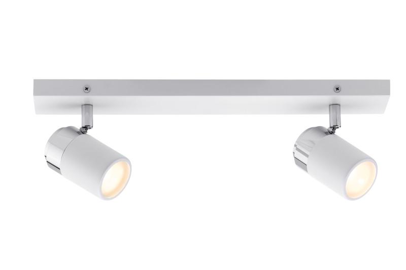 Paulmann Spotlight Zyli IP44 max2x10W GU10 Ws/Chr paulmann 70063 лампа накаливания rustuka retro 60 w e27 прозрачн paulmann
