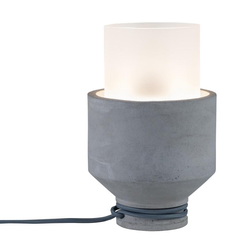 Paulmann Heliu Tischl max1x20W Grau/Sat Beton/Gl paulmann fenno tischl max1x20w grau 230v beton