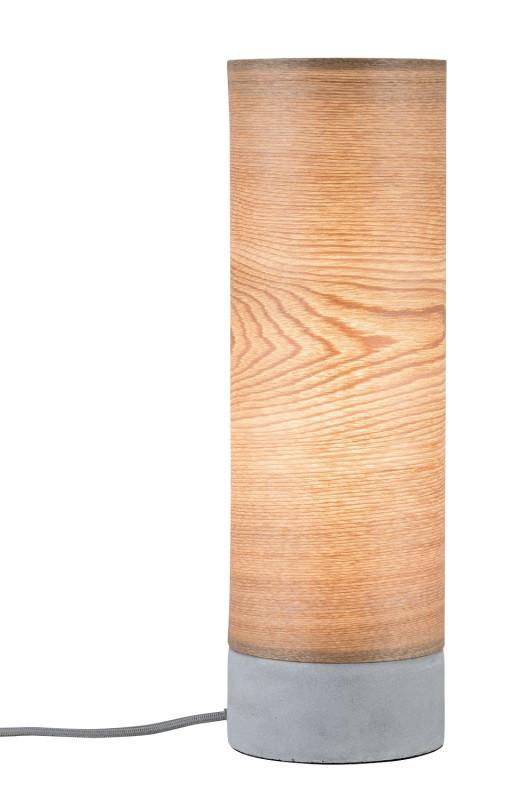 Paulmann Nea Tischl max1x20W Holz/Grau Holz/Beton paulmann roald pendell max1x20w sw m grau marmor