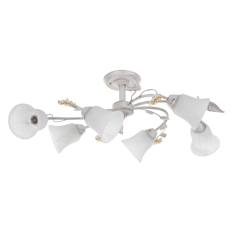 IDLamp Светильник потолочный Vaniglia 882/6PF-Whitepatina потолочная люстра idlamp vaniglia 882 4pf whitepatina