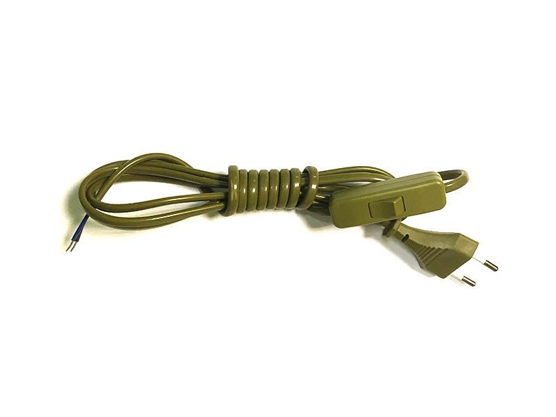 Ozcan A2300.20 Шнур с переключ бронза (2м) ozcan лампа timon 60 белая