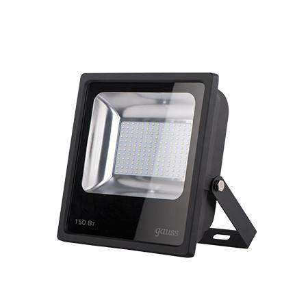 Gauss Прожектор светодиодный Gauss LED 150W IP65 6500К черный 1/4