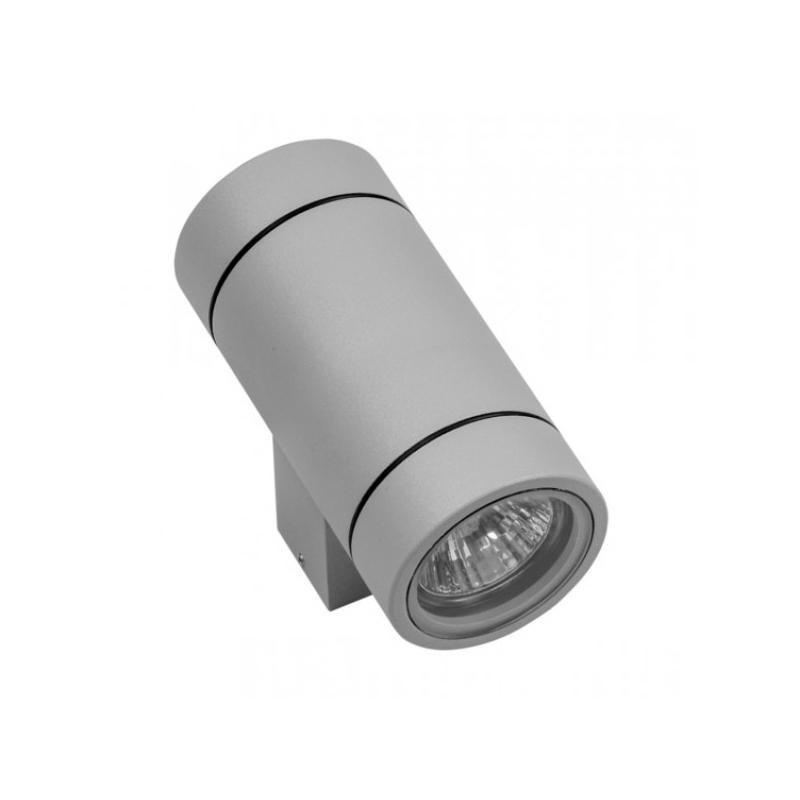 Lightstar 351609 Светильник PARO 2xGU10 СЕРЫЙ (в комплекте), шт lightstar 372594 светильник paro led 2 2 15w 4700lm 15g серый 4000k ip65 в комплекте