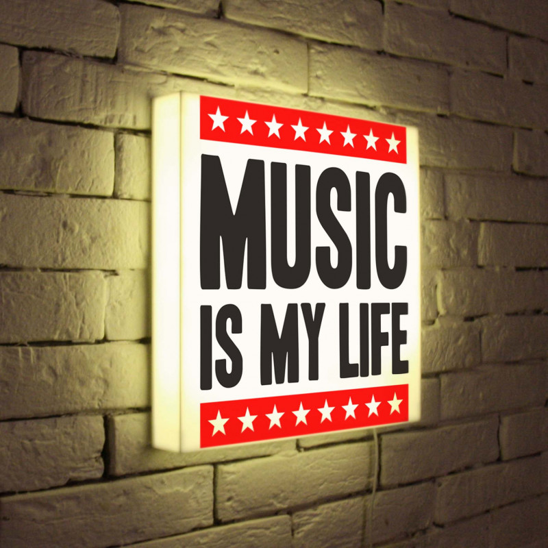 BoxPop LB-072-35 лайтбокс music is my life 35x35 072