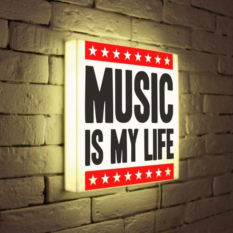 BoxPop LB-072-45 лайтбокс music is my life 35x35 072