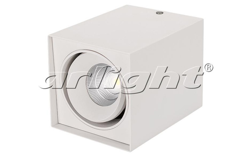 Arlight Светильник SP-CUBUS-S100x100WH-11W Warm White 40deg globo cubus 5692 1h